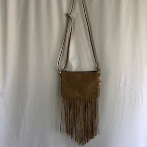 Victoria's Secret Brown Suede Crossbody Bag
